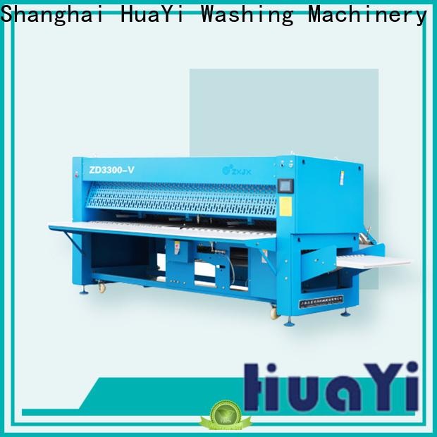 HuaYi anti-static automatic clothes folding machine promotion for laundry shop