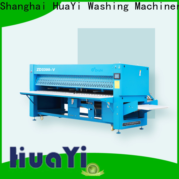 HuaYi commercial laundry folding machine factory price for school