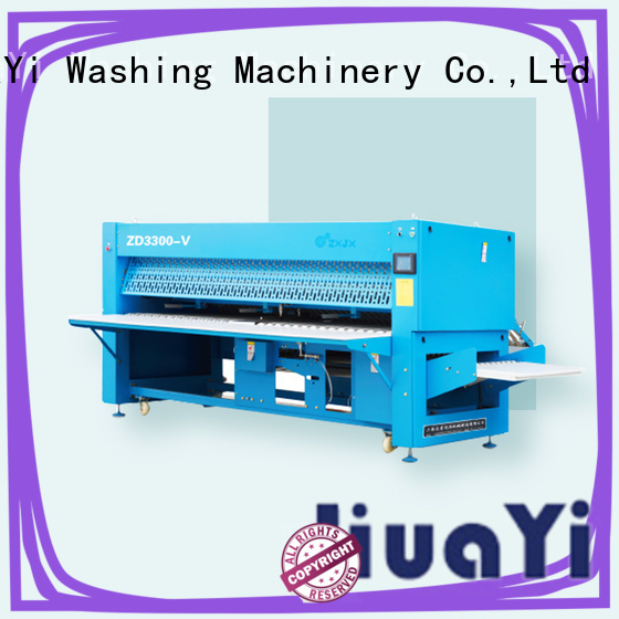 HuaYi anti-static commercial laundry folding machine factory price for laundry shop