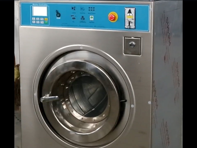 coin operated washing machine video