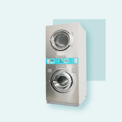 Double stack commercial coin operated washer and dryer sets prices / stack 2 layers dryers available