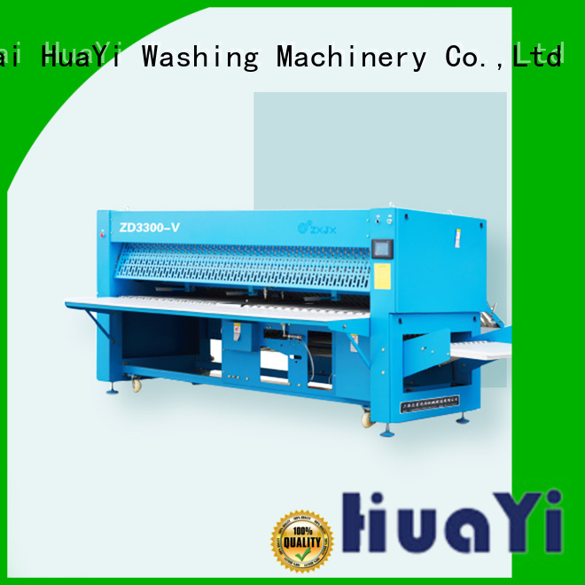 HuaYi precise industrial ironing and folding machine promotion for laundry shop