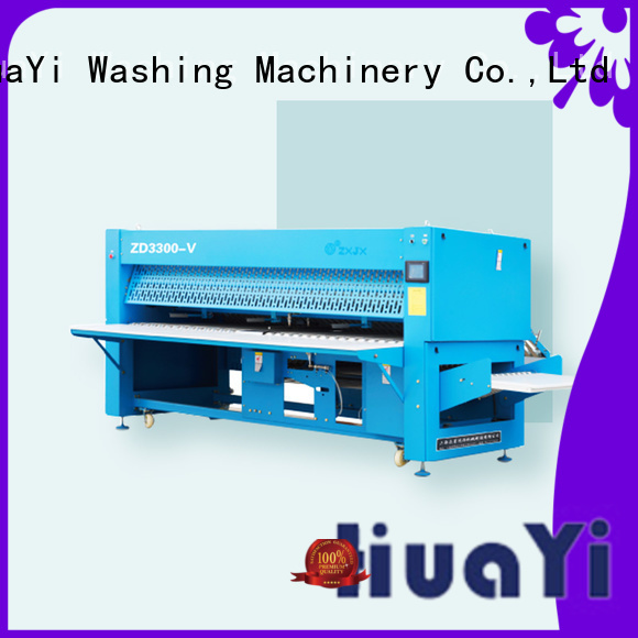 HuaYi folding sheet folding machine on sale for laundry shop